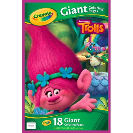 Crayola giant coloring pages trolls 18 pages Coloring book walmart