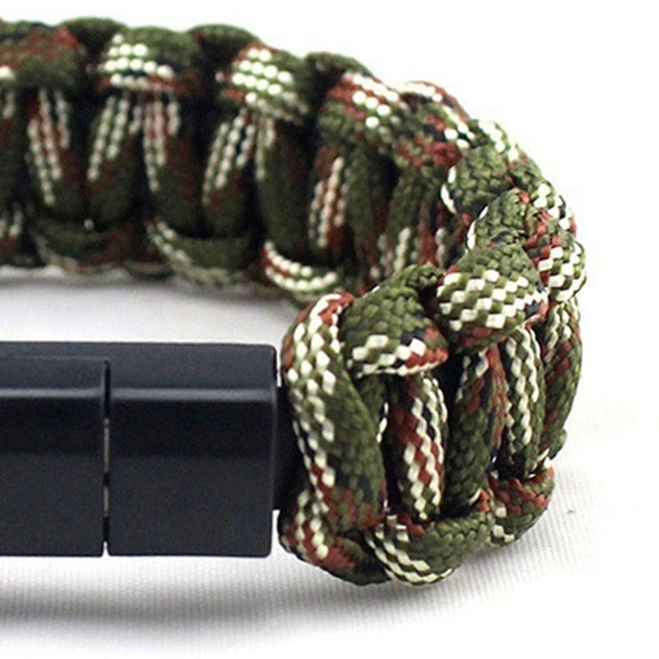 Creative Woven Rope Bracelet USB Data Cable for Android Smart Mobile Phone