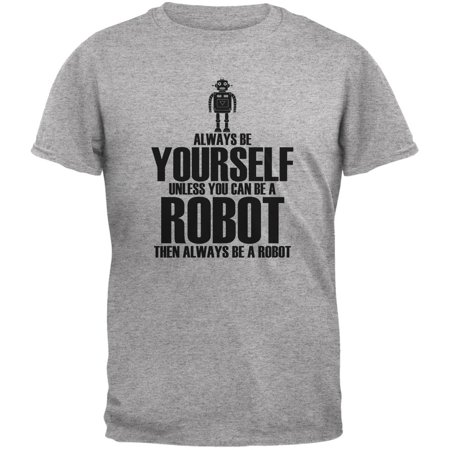 Halloween Always Be Yourself Robot Heather Grey Youth T-Shirt