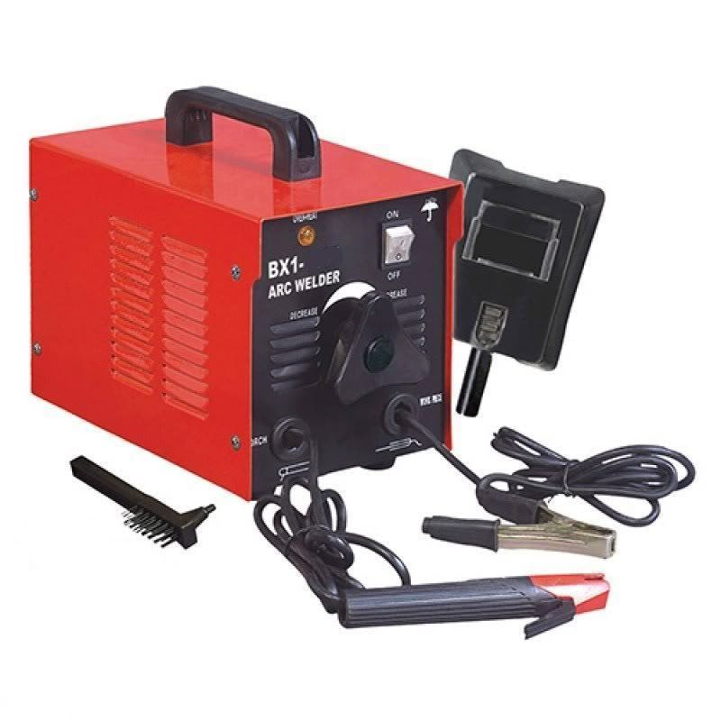 Click here to buy 110V Arc Welder 100 Amp Rod Stick Welding Kit with Mask & Chipper Brush.