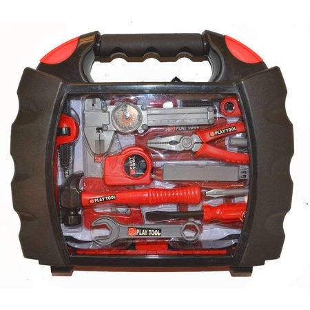 Kids 28 Pcs Tool Set Pretend Play Toy Set in Handy Carry Along Tool Box