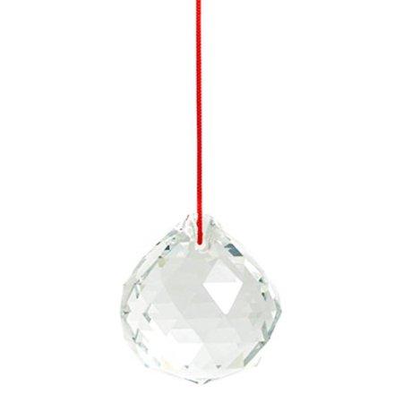 M.V. Trading 40mm Crystal Ball Prisms Pendant Feng Shui Suncatcher Decorating Hanging Faceted Prism Balls, Clear