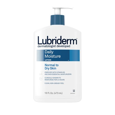 Lubriderm Daily Moisture Hydrating Lotion with Vitamin B5, 16 fl. oz Super Hydrating Moisture Lotion