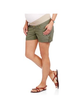 Maternity Underbelly Stretch Poplin Shorts - Available in Plus Size