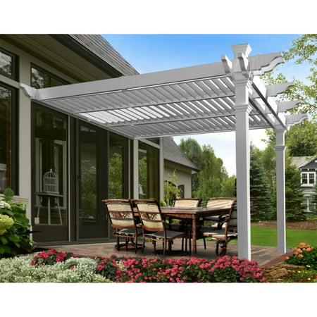 New England Arbors Elysium 12 X 12 Attached Louvered