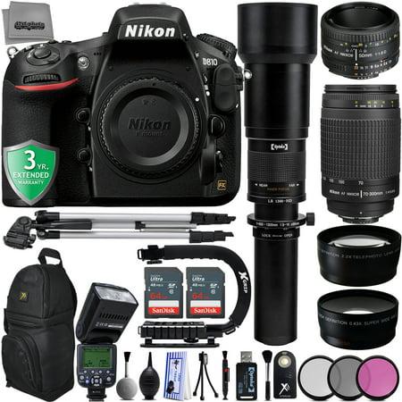 Nikon D810 36.3MP 1080P DSLR Camera w/ 3.2