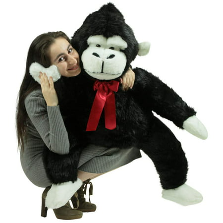 American Made Giant Stuffed Monkey 40 Inch Soft Black Big Stuffed Gorilla Made in USA - Big Stuffed Monkey