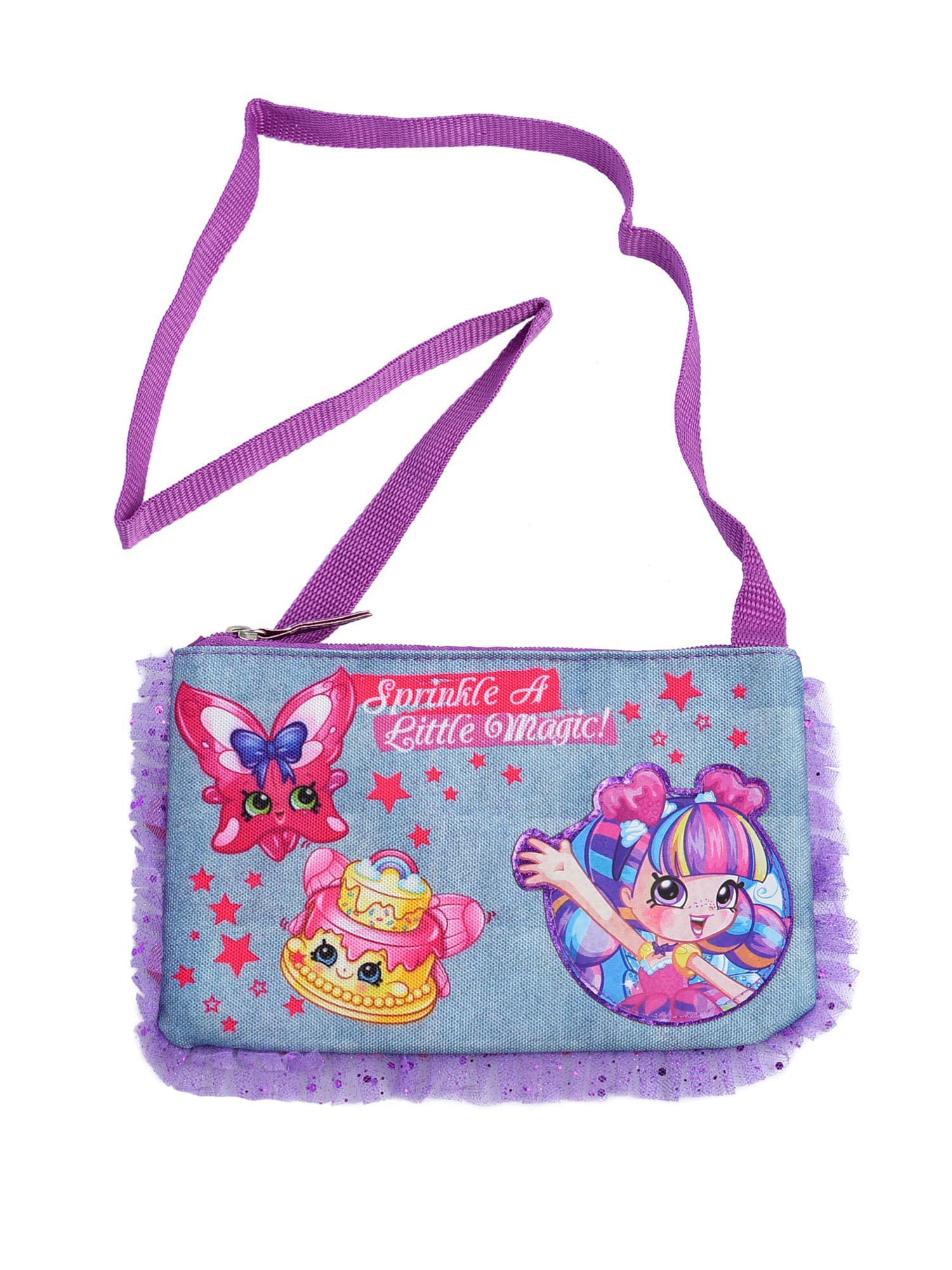 Girls Shopkins Shoppies Cross Body Zippered Handbag Sprinkle A Little Magic