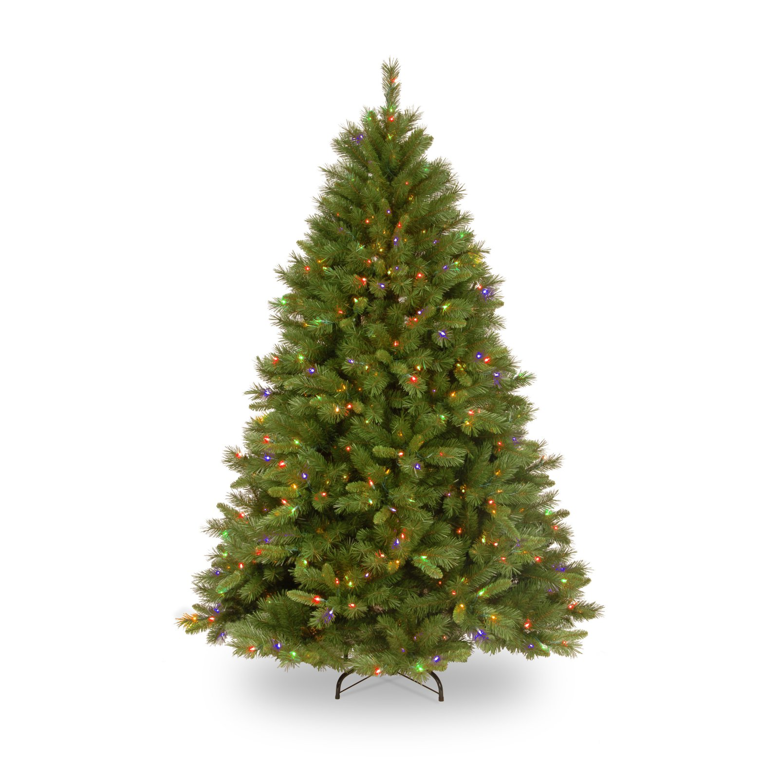 National Tree Pre-Lit 7-1/2' Winchester Pine Hinged Artificial Christmas Tree with 500 Multi Lights