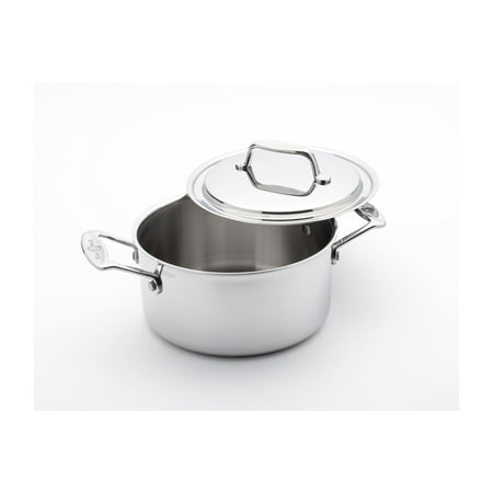 USA Pan 5-Ply Stainless Steel 3 qt. Stock Pot w/Lid