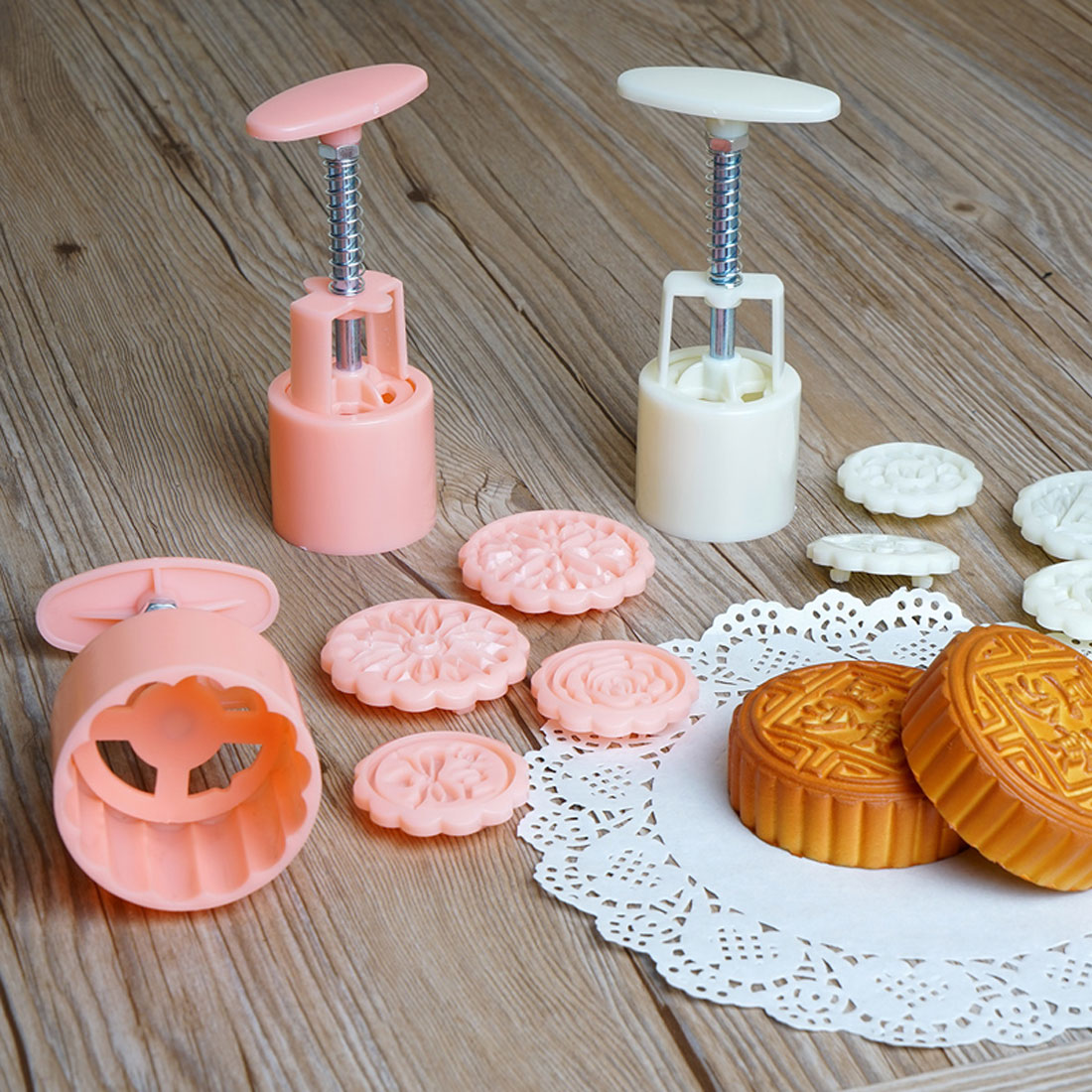 Home Bakery Kitchenware Plastic Biscuit Moon Cake Pastry Mold Cutter Set 11 in 1 - image 3 of 5