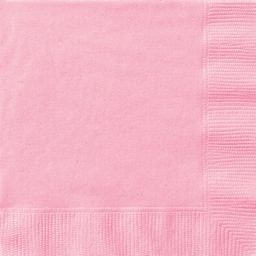Light Pink Beverage Napkins, 50ct