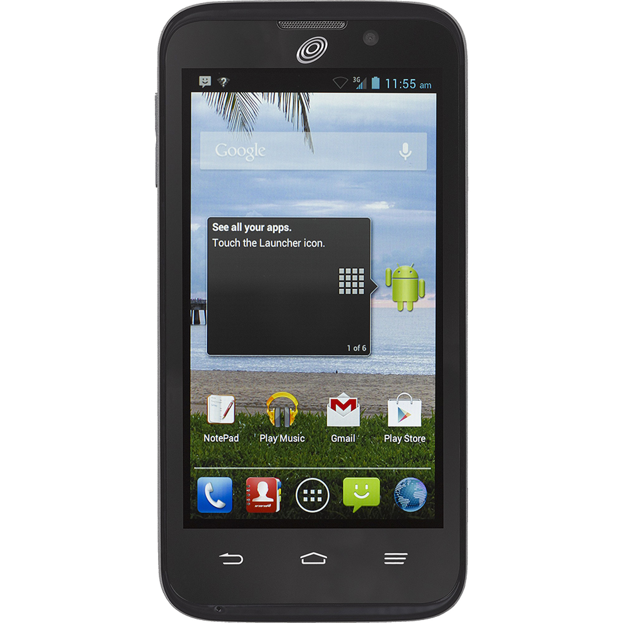 Straight Talk ZTE Majesty Z796C Refurbished Prepaid Smartphone w/Bonus $45 Unlimited Plan