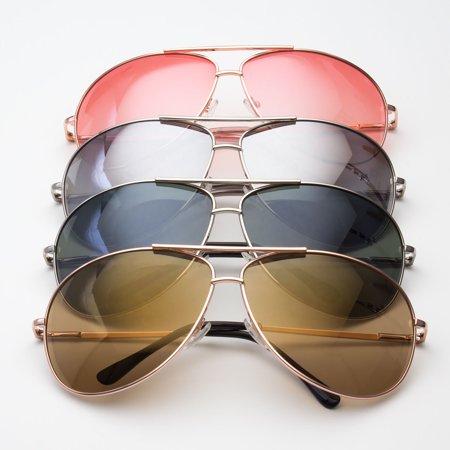 20bdc1753e Sunclassy - Color Lenses Silver Metal Frame AVIATOR SUNGLASSES 70s ...