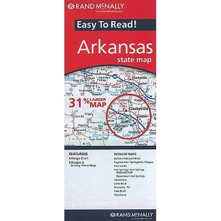 Arkansas State Map: 9780528882173