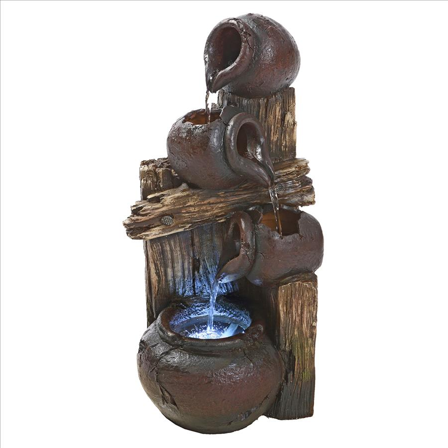 Casa Chianti Cascading Urns Illuminated Garden Fountain by Design Toscano