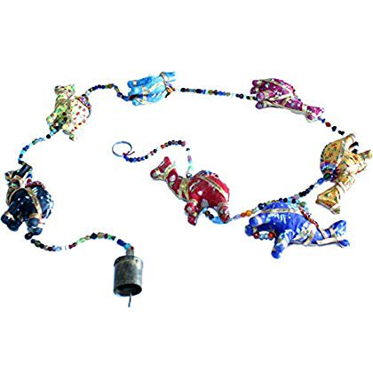 Jerusalem Metal (Colored clothed Camels with metal bell from Jerusalem ( 140 cm - 55 Inches)
