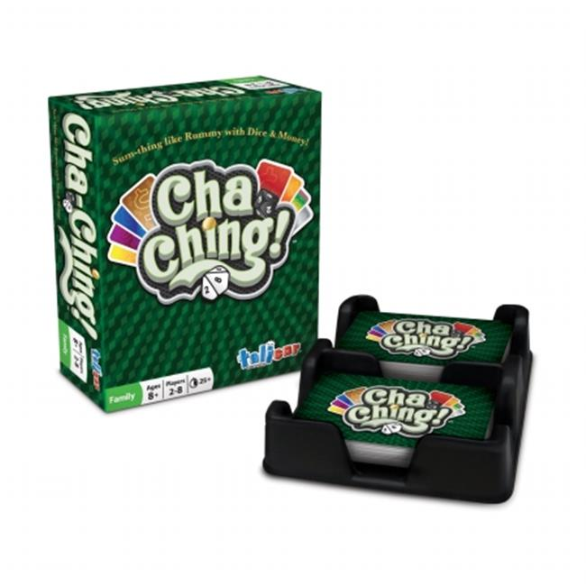 Talicor 4350 Cha-Ching Card Game Rummy with Dice & Money