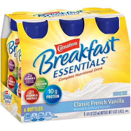 Carnation Breakfast Essentials Ready to Drink Classic French Vanilla - 8 fl oz bottle, 6ct