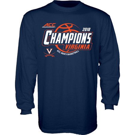 62f2173f924c Virginia Cavaliers ACC Champs Long Sleeve T Shirt Basketball 2018 Navy XXL  - Walmart.com