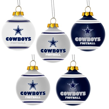 forever collectibles nfl 5 pack shatterproof ball ornaments dallas cowboys