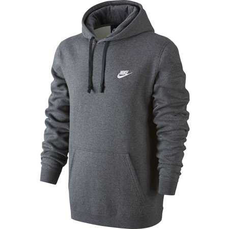 (Nike NSW Club Fleece Pullover Men's Hoodie Grey 804346-071)