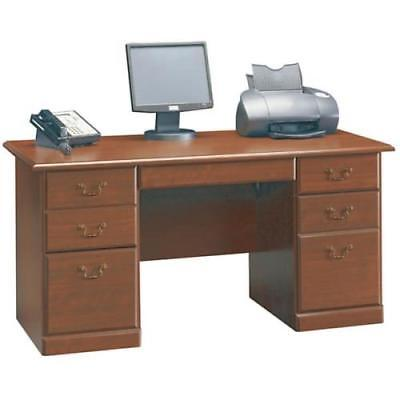 "Sauder Heritage Hill Classic Cherry Executive Desk 59-1/2"" x 29"" x 29-1/2"""