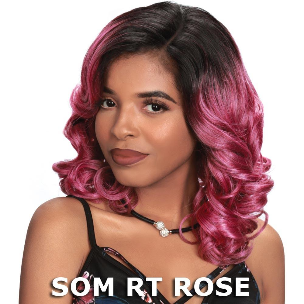 Sis Prime Human Hair Blend Lace Front Wig - ERIN (SOM RT Rose)