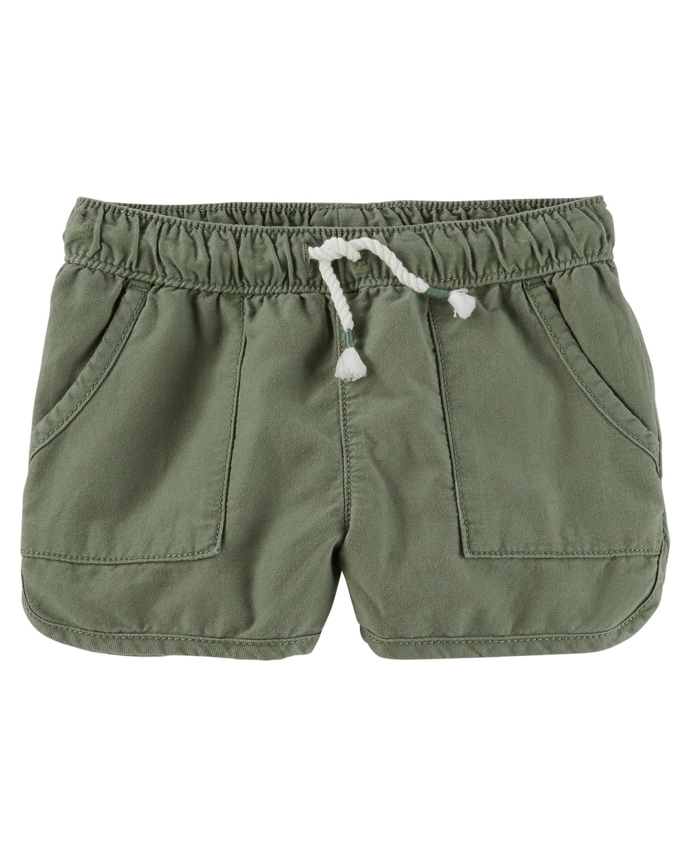 OshKosh B'gosh Baby Girls' Sun Short, Olive, 6-9 Months