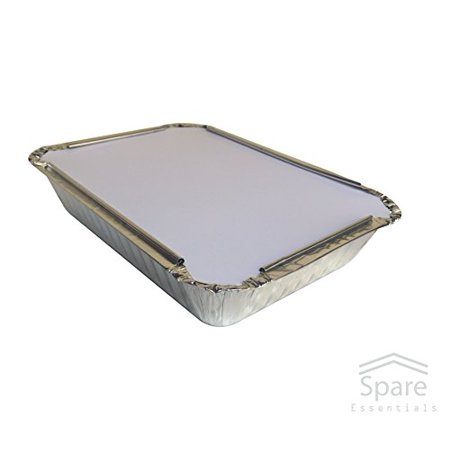 40 Pack - Aluminum Foil Pan Containers with Lids Take Out Pans Food Containers Disposable Easy Pack 2.25Lb Capacity 8.5
