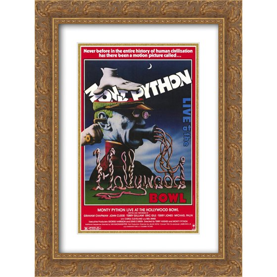 Monty Python Live at the Hollywood Bowl 18x24 Double Matted Gold Ornate  Framed Movie Poster Art Print