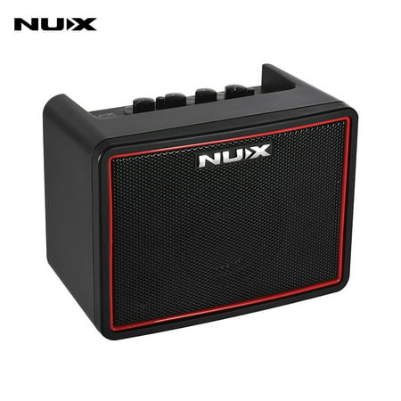NUX Mighty Lite BT Mini Desktop Electric Guitar Amplifier 3W Amp 3 Channels Built-in Delay Reverb Effects 9 Drum Patterns Metronome Tape