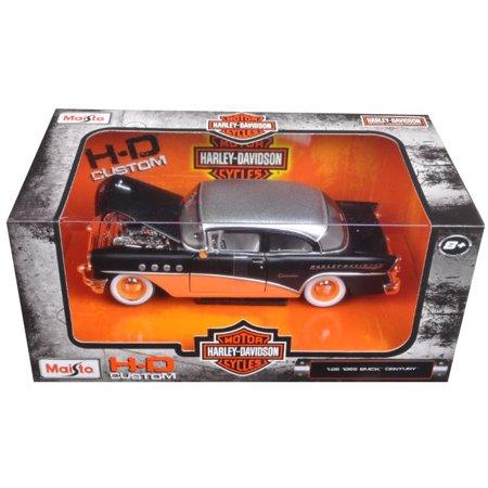 1955 Buick Century Harley Davidson Black / Orange 1/26 Diecast Model Car  by Maisto Buick Century Diecast Model