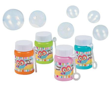 Fun Express - Owl Birthday Mini Bubble Bottles for Birthday - Toys - Bubbles - Mini Bubble Bottles - 1oz - Birthday - 24 Pieces](Birthday Express Catalog)