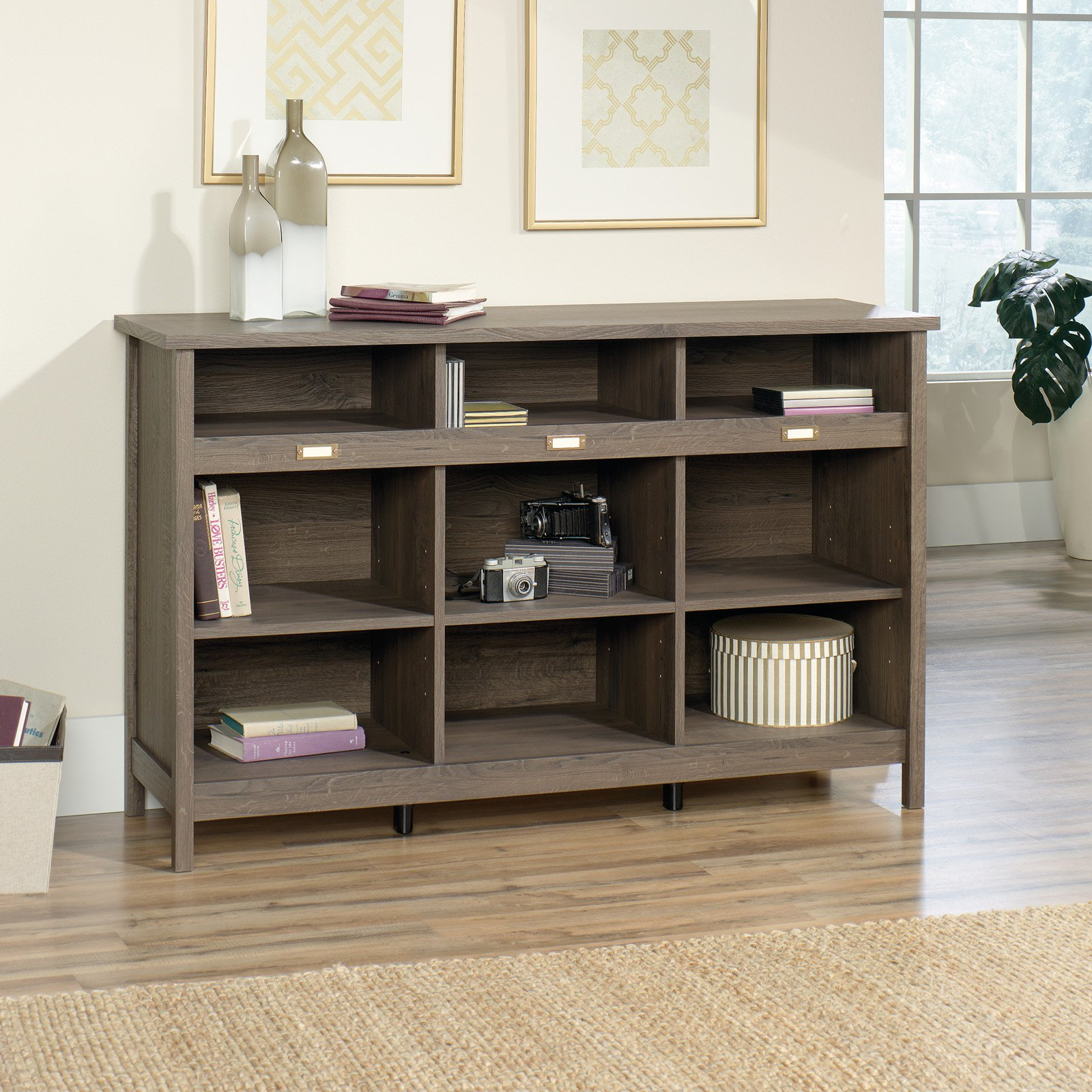Sauder Adept Storage Credenza, Fossil Oak Finish