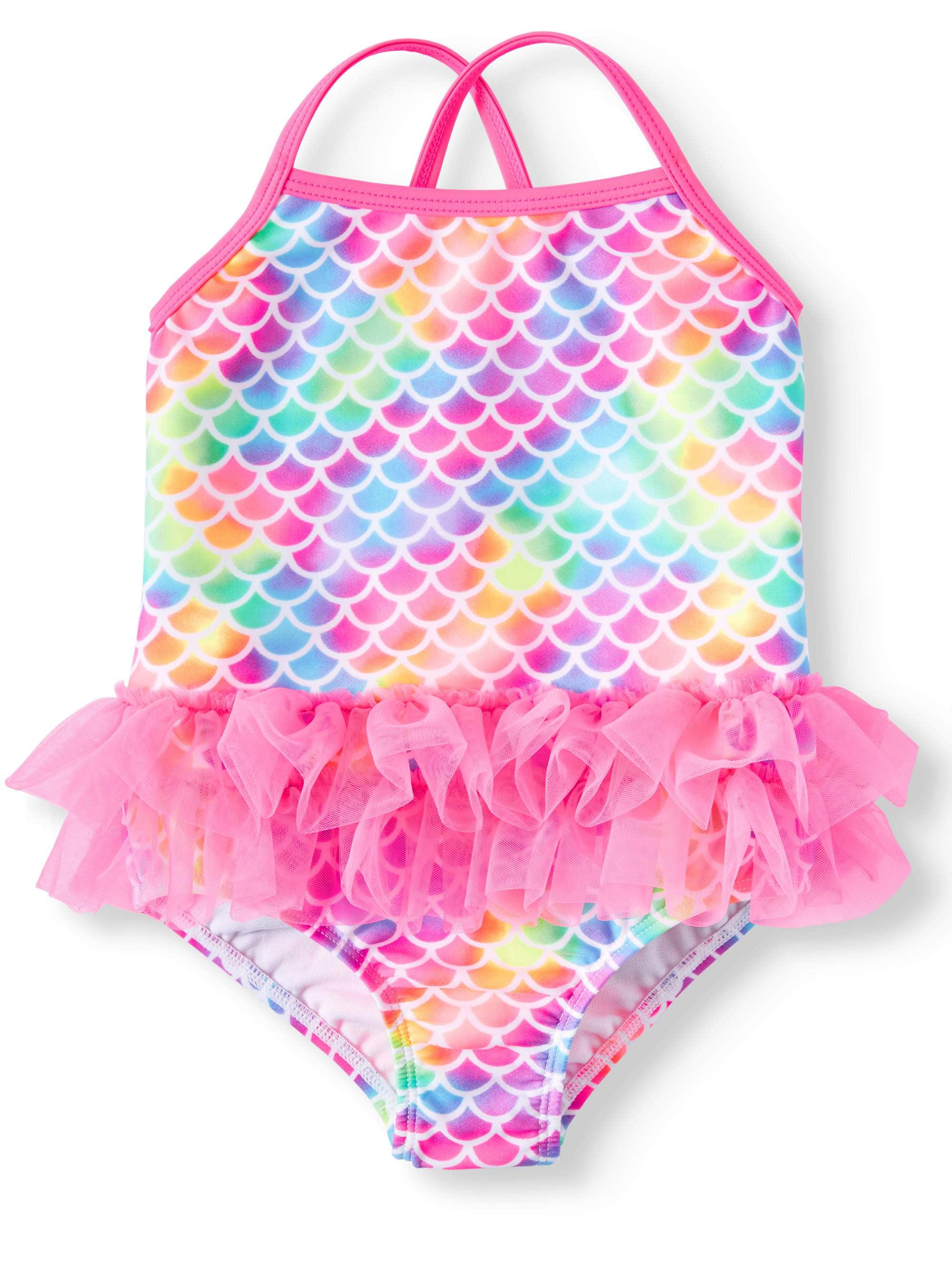 89746df785563 Wonder Nation - Mermaid Tutu 1-Piece Swimsuit (Toddler Girls) - Walmart.com