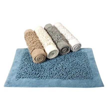 Saffron Fabs Cotton and Chenille Lima Bath Rug (Set of 2) Grey (24x17 & 34x21)