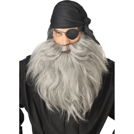 Pirate Beard Mustache Adult Halloween Accessory - Beard And Mustache Costume