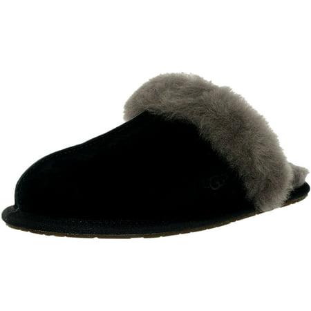 Ugg Women's Scuffette Ii Black / Grey Leather Slipper - 5M ()