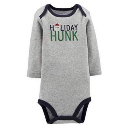 7d9460fa8 Just One You Carter's Christmas Holiday Grey Bodysuit - Walmart.com