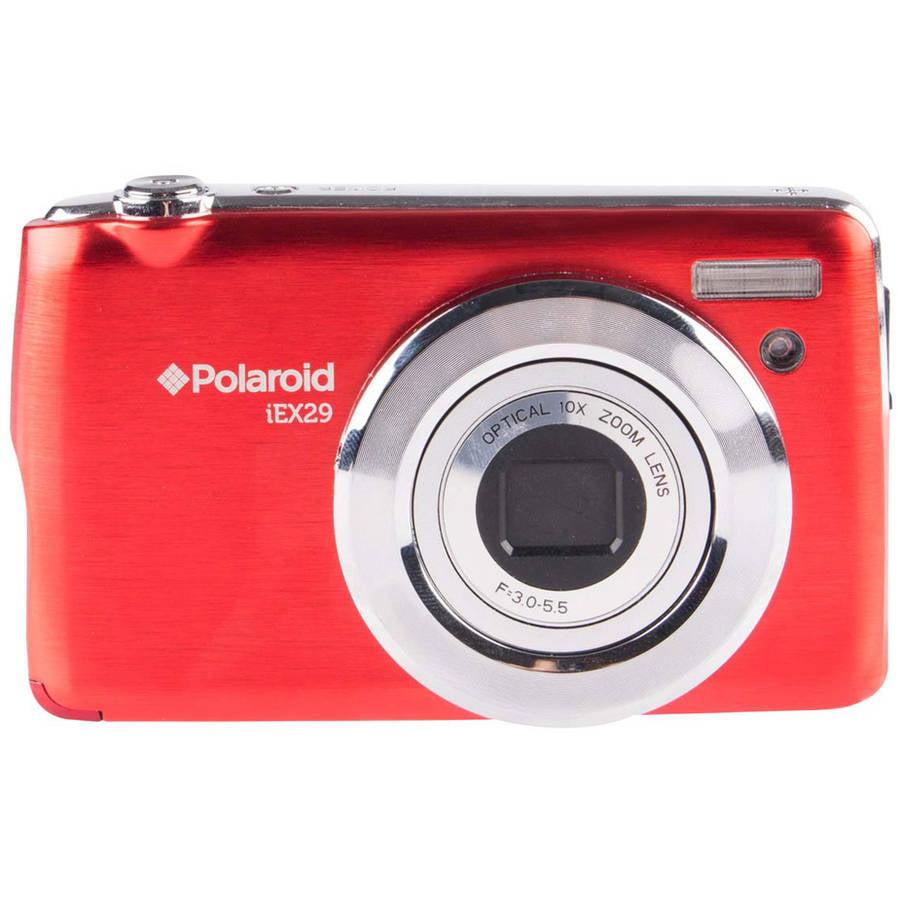 Polaroid IEX29-RED 18.0 Megapixel Digital Camera - 10x Optical/4x Digital - 2.7-inch TFT LCD Display - Red