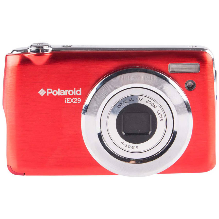 Polaroid IEX29-RED 18.0 Megapixel Digital Camera - 10x Optical/4x Digital - 2.7-inch TFT LCD Display - Red