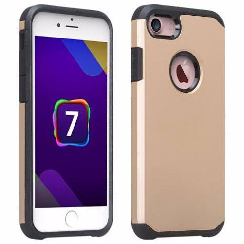 cheap for discount f129f f0613 Apple iPhone 8 Case Cover, Slim Hybrid Dual Layer Shock Resistant Case  Cover for iPhone 8 - Gold