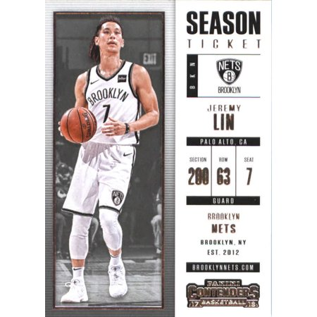 2017-18 Panini Contenders Season Ticket #17 Jeremy Lin Brooklyn Nets Basketball Card