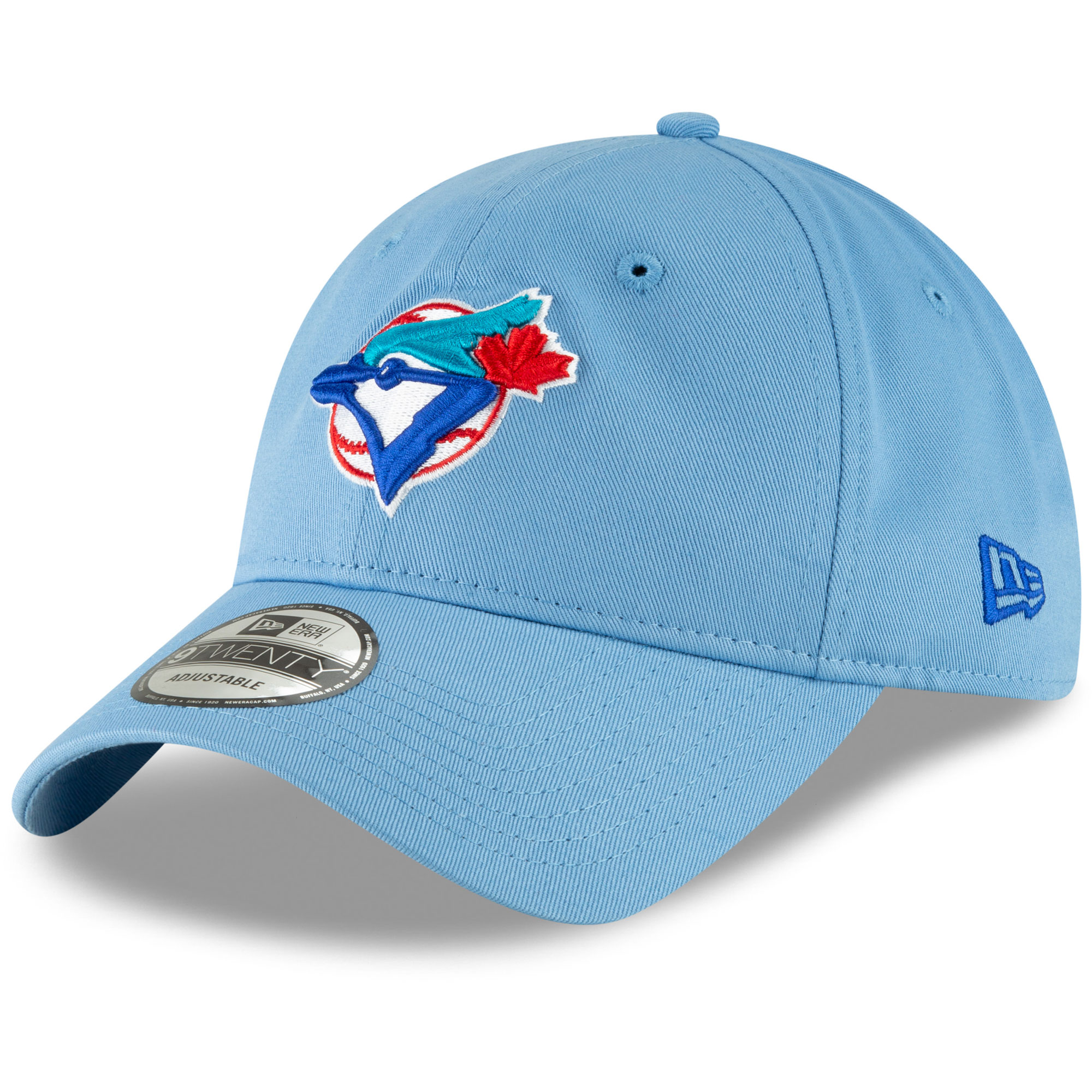 Toronto Blue Jays New Era Cooperstown Collection Core Classic Replica 9TWENTY Adjustable Hat - Light Blue - OSFA