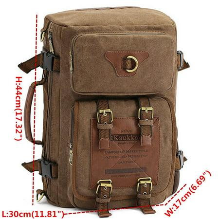 Meigar Men Retro Canvas Shoulder Bag Travel Tactical Backpack - image 8 de 9