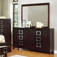 Balfour Transitional Style Dresser, Brown Cherry