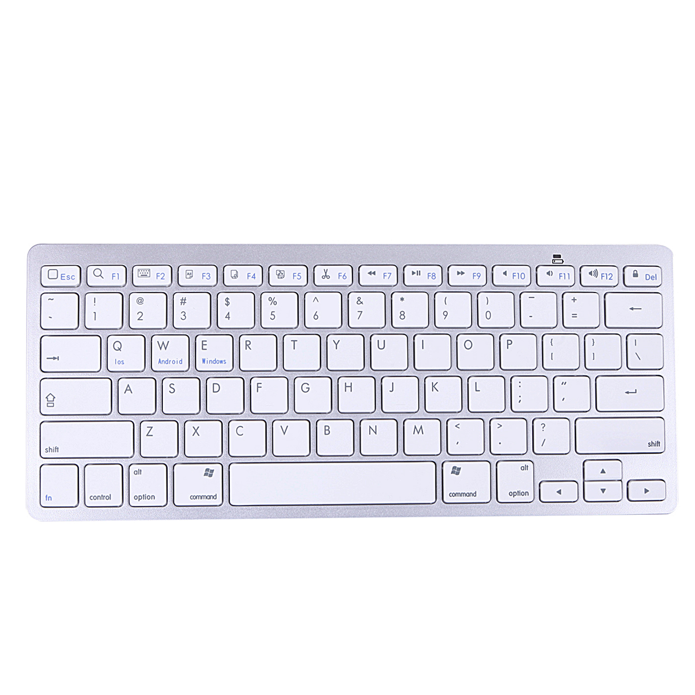 HDE Wireless Bluetooth Keyboard for Windows Mac iOS Andorid and other Tablets (Silver Aluminum)