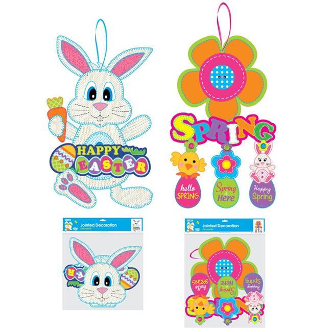 Flomo ET890 Jumbo Jointed Easter Cut-Out, Case Pack of 48