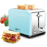 Toaster with Bagel, Cancel, Defrost Function and 6 Bread Shade Settings Bread Toaster, Extra Wide Slot and Removable Crumb Tray Stainless Steel Toaster